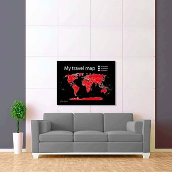 černo červená mapa světa 2
