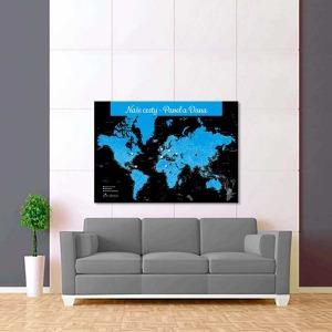 černo modrá mapa světa 2