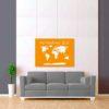 oranžovo bílá mapa světa 2