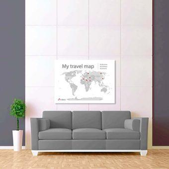 bílo šedá mapa světa 2