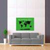 zeleno černá mapa světa 2