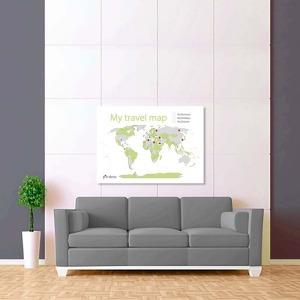 bílo zelená mapa světa 2