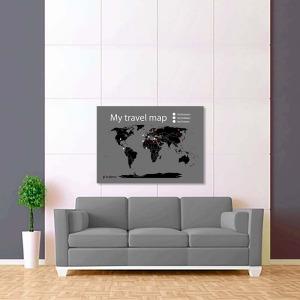 šedo černá mapa světa 2