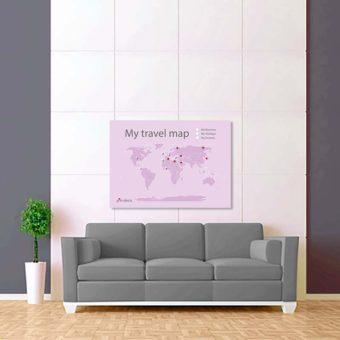 světle fialová mapa světa 2