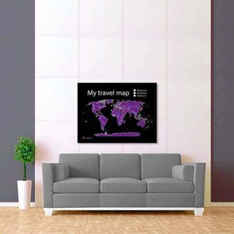 černo fialová mapa světa 2