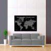 černo šedá mapa světa 2
