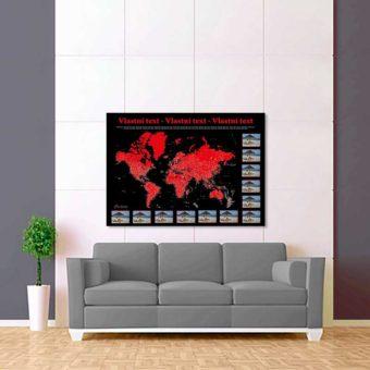 černo červená foto mapa 2