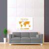 bílo oranžová mapa svět 2