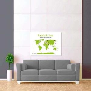 bílo zelená mapa svět 2