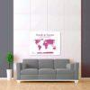 bílo růžová mapa světa 2