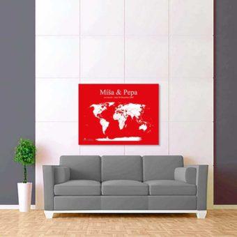 červeno bílá mapa světa 2