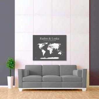 šedo bílá mapa světa 2