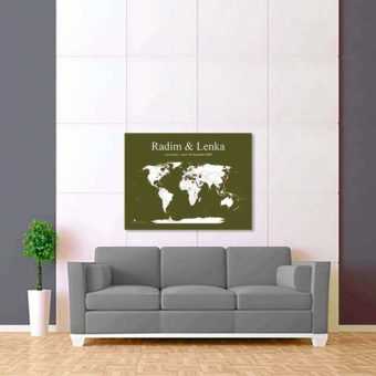 zeleno bílá mapa světa 2