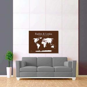 hnědo bílá mapa světa 2