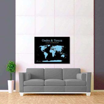 černě modrá mapa světa 2