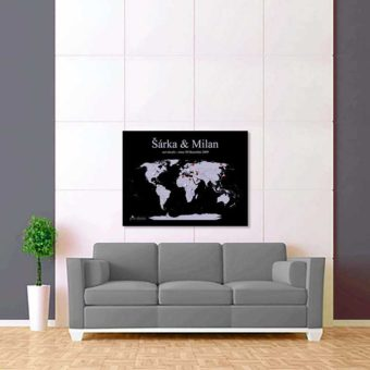 fialovo černá mapa světa 2