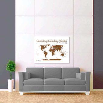 bílo hnědá mapa světa 2