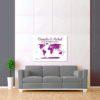 bílo fialová mapa světa 2
