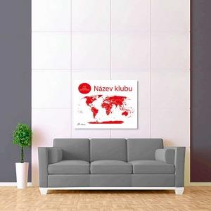 bílo červená mapa světa sport 2