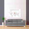 bílo šedá vybarvovací mapa světa 2