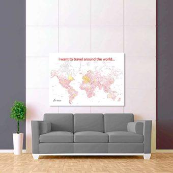 bílo červená vybarvovací mapa světa 2