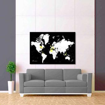 černo bílá vybarvovací mapa světa 2