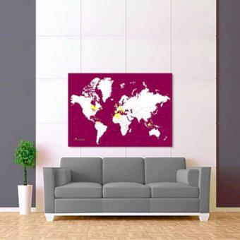 fialovo bílá vybarvovací mapa světa 2