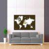tmavě oranžová vybarvovací mapa světa 2