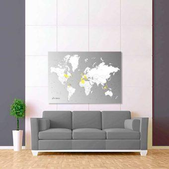 šedo bílá vybarvovací mapa světa 2