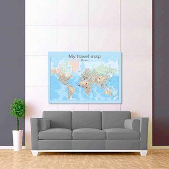barevná mapa celého světa rozšířená 2