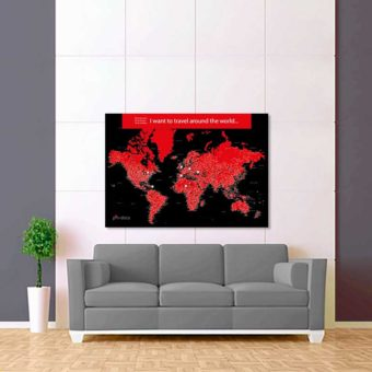 černo červená mapa světa rozšířená 2