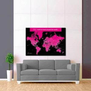 černě fialová mapa světa rozšířená 2