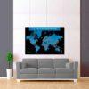 černo modrá mapa světa rozšířená 2