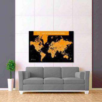 černo žlutá mapa světa rozšířená 2