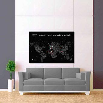 černo bílá mapa světa rozšířená 2