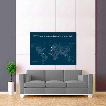 modře bílá mapa světa rozšířená 2