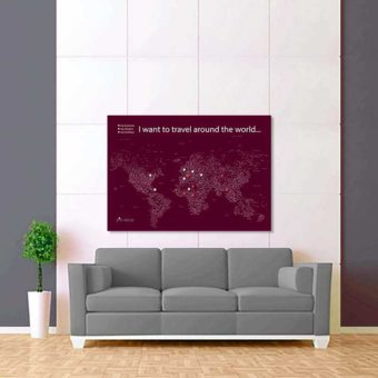 tmavě fialově bílá mapa světa rozšířená 2