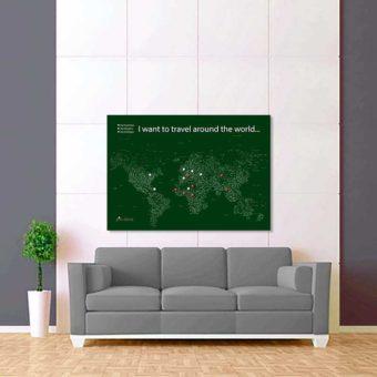 zeleno bílá mapa světa rozšířená 2