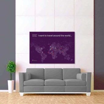fialová bílá mapa světa rozšířená 2