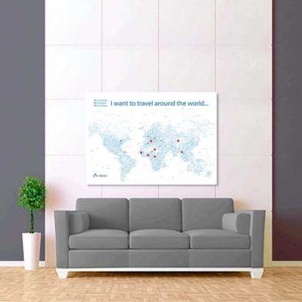 bíle modrá mapa světa rozšířená 2