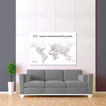 bílo černá mapa světa rozšířená 2