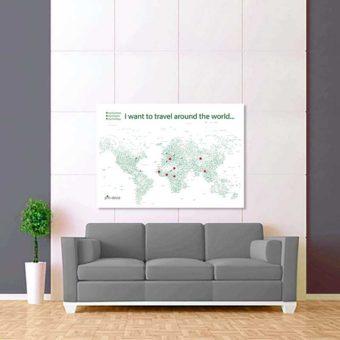 bílo zelená mapa světa rozšířená 2