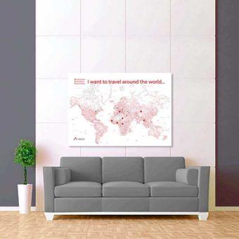 bílo červeno šedá mapa světa rozšířená 2