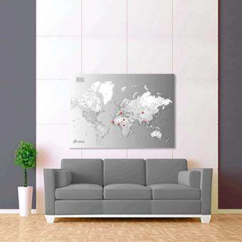 šedě bílo černá mapa světa rozšířená 2