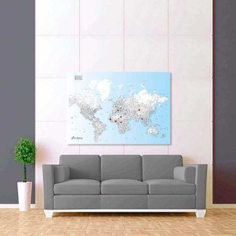 modře bílo černá mapa světa rozšířená 2