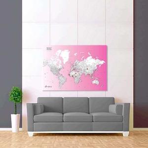 fialově bílá mapa světa rozšířená 2