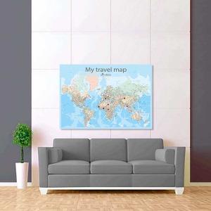 barvená mapa světa rozšířená 2