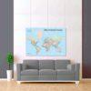 barevná mapa světa rozšířená 2