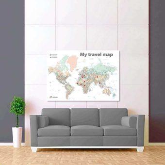 barevná bílá mapa světa rozšířená 2