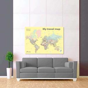 barevná žlutá mapa světa rozšířená 2